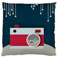 Camera Vector Illustration Large Flano Cushion Case (one Side) by Amaryn4rt