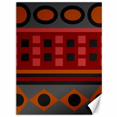 Red Aztec Canvas 36  X 48   by Jojostore