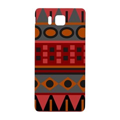 Red Aztec Samsung Galaxy Alpha Hardshell Back Case by Jojostore