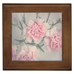 Cloves Flowers Pink Carnation Pink Framed Tiles by Amaryn4rt