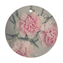 Cloves Flowers Pink Carnation Pink Ornament (round)  by Amaryn4rt