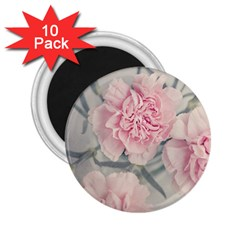 Cloves Flowers Pink Carnation Pink 2 25  Magnets (10 Pack)  by Amaryn4rt