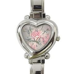 Cloves Flowers Pink Carnation Pink Heart Italian Charm Watch by Amaryn4rt