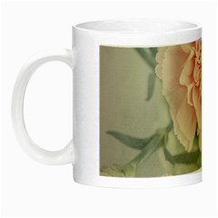 Cloves Flowers Pink Carnation Pink Night Luminous Mugs by Amaryn4rt