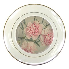 Cloves Flowers Pink Carnation Pink Porcelain Plates by Amaryn4rt