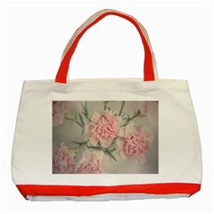 Cloves Flowers Pink Carnation Pink Classic Tote Bag (red) by Amaryn4rt
