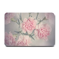 Cloves Flowers Pink Carnation Pink Small Doormat  by Amaryn4rt