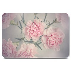 Cloves Flowers Pink Carnation Pink Large Doormat  by Amaryn4rt