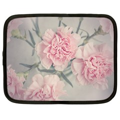 Cloves Flowers Pink Carnation Pink Netbook Case (large) by Amaryn4rt