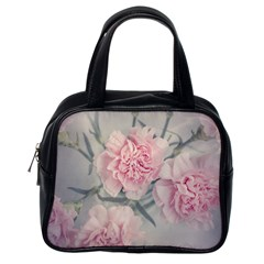 Cloves Flowers Pink Carnation Pink Classic Handbags (one Side) by Amaryn4rt