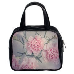Cloves Flowers Pink Carnation Pink Classic Handbags (2 Sides) by Amaryn4rt