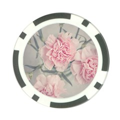 Cloves Flowers Pink Carnation Pink Poker Chip Card Guards (10 Pack)  by Amaryn4rt