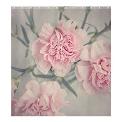 Cloves Flowers Pink Carnation Pink Shower Curtain 66  X 72  (large)  by Amaryn4rt