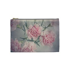 Cloves Flowers Pink Carnation Pink Cosmetic Bag (medium)  by Amaryn4rt