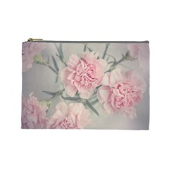 Cloves Flowers Pink Carnation Pink Cosmetic Bag (large)  by Amaryn4rt