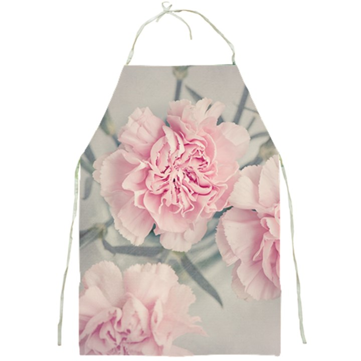 Cloves Flowers Pink Carnation Pink Full Print Aprons