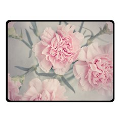 Cloves Flowers Pink Carnation Pink Fleece Blanket (small) by Amaryn4rt