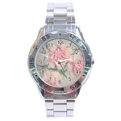 Cloves Flowers Pink Carnation Pink Stainless Steel Analogue Watch by Amaryn4rt