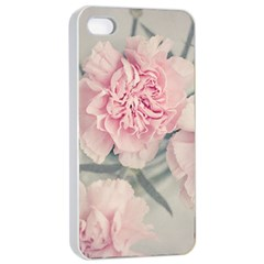 Cloves Flowers Pink Carnation Pink Apple Iphone 4/4s Seamless Case (white) by Amaryn4rt