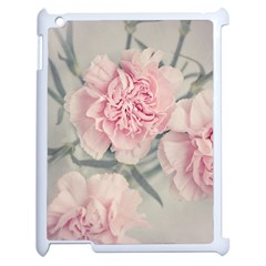 Cloves Flowers Pink Carnation Pink Apple Ipad 2 Case (white) by Amaryn4rt