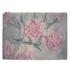 Cloves Flowers Pink Carnation Pink Cosmetic Bag (xxl)  by Amaryn4rt