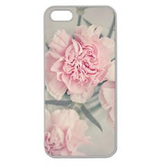 Cloves Flowers Pink Carnation Pink Apple Seamless Iphone 5 Case (clear) by Amaryn4rt
