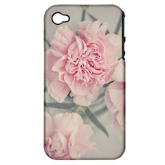Cloves Flowers Pink Carnation Pink Apple Iphone 4/4s Hardshell Case (pc+silicone) by Amaryn4rt