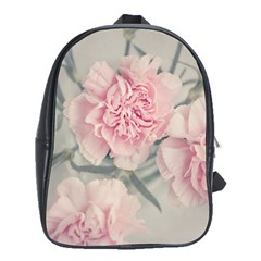 Cloves Flowers Pink Carnation Pink School Bags (xl)  by Amaryn4rt