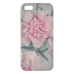 Cloves Flowers Pink Carnation Pink Apple Iphone 5 Premium Hardshell Case by Amaryn4rt