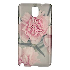Cloves Flowers Pink Carnation Pink Samsung Galaxy Note 3 N9005 Hardshell Case by Amaryn4rt