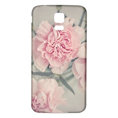 Cloves Flowers Pink Carnation Pink Samsung Galaxy S5 Back Case (white) by Amaryn4rt
