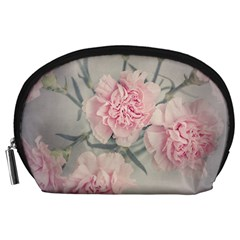 Cloves Flowers Pink Carnation Pink Accessory Pouches (large)  by Amaryn4rt