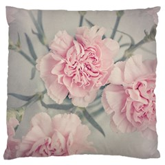 Cloves Flowers Pink Carnation Pink Large Flano Cushion Case (one Side) by Amaryn4rt