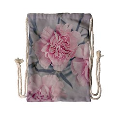 Cloves Flowers Pink Carnation Pink Drawstring Bag (small) by Amaryn4rt