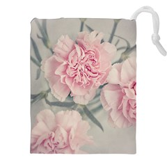 Cloves Flowers Pink Carnation Pink Drawstring Pouches (xxl) by Amaryn4rt
