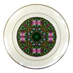 Digital Kaleidoscope Porcelain Plates by Amaryn4rt