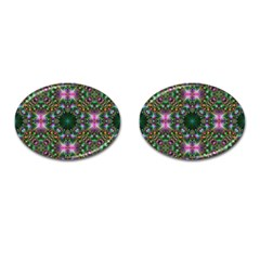 Digital Kaleidoscope Cufflinks (oval) by Amaryn4rt
