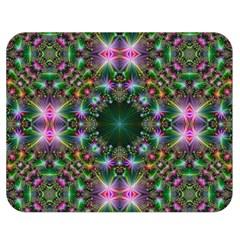 Digital Kaleidoscope Double Sided Flano Blanket (Medium)  by Amaryn4rt