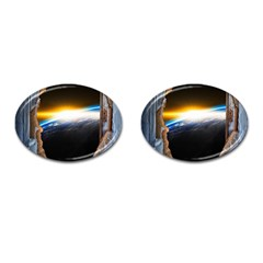 Door Breakthrough Door Sunburst Cufflinks (oval) by Amaryn4rt