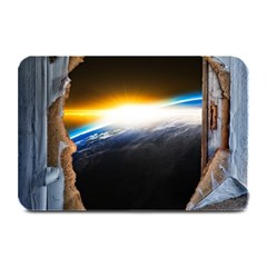 Door Breakthrough Door Sunburst Plate Mats by Amaryn4rt