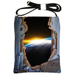 Door Breakthrough Door Sunburst Shoulder Sling Bags by Amaryn4rt