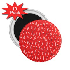Red Alphabet 2 25  Magnets (10 Pack)  by Jojostore