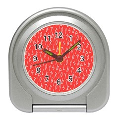 Red Alphabet Travel Alarm Clocks by Jojostore