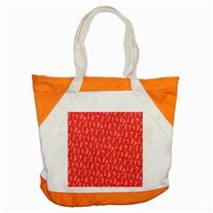 Red Alphabet Accent Tote Bag by Jojostore