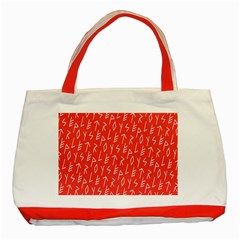 Red Alphabet Classic Tote Bag (red) by Jojostore
