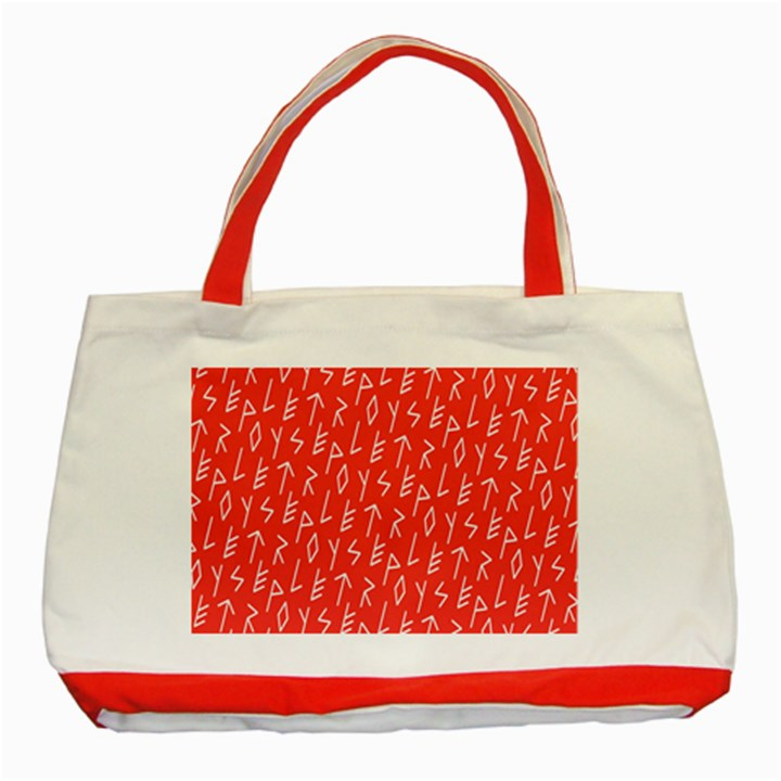 Red Alphabet Classic Tote Bag (Red)