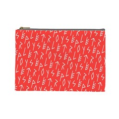 Red Alphabet Cosmetic Bag (large)  by Jojostore