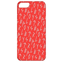 Red Alphabet Apple Iphone 5 Classic Hardshell Case by Jojostore