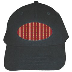 Pattern Background Red Stripes Black Cap by Amaryn4rt