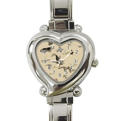 Vintage Old Fashioned Antique Heart Italian Charm Watch